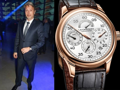 Mads Mikkelsen y su Chopard L.U.C Regulator en la premiere de Rogue One