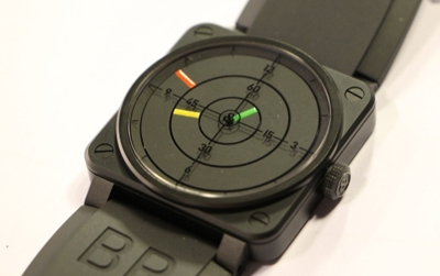 Close Up al Bell & Ross Br03 Radar