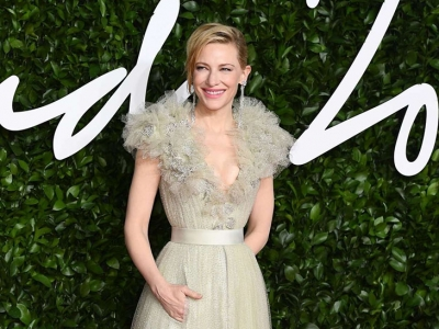 Cate Blanchett radiante con Armani en los British Fashion Awards 2019