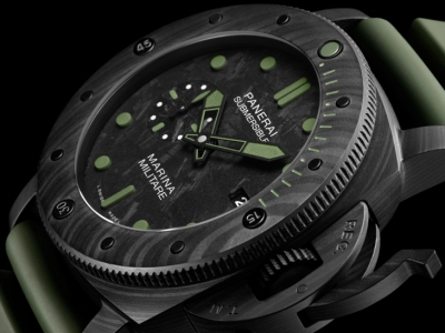 SIHH 2019: Panerai Submersible Marina Militare Carbotech – 47mm