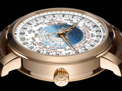 Close up al Vacheron Constantin Traditionnelle Horas del Mundo