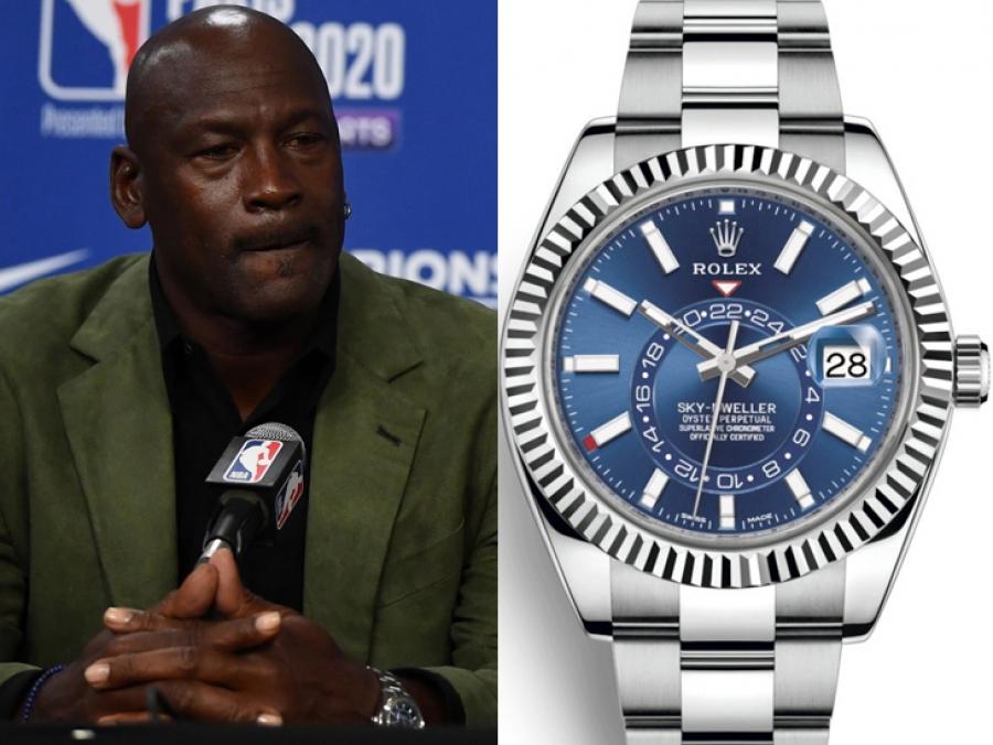 Inodoro profundizar aluminio  El espectacular Rolex Sky-Dweller de Michael Jordan - HMS - Horas minutos y  segundos