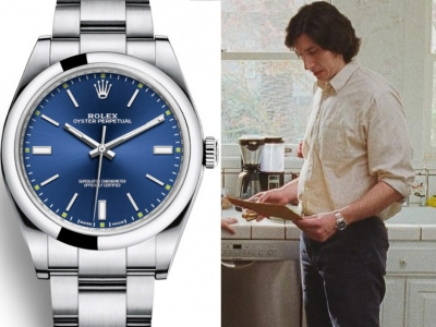 Adam Driver usa un Rolex Oyster Perpetual en Marriage Story