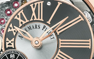 Close Up al Audemars Piguet Milenary 4101 de oro rosa
