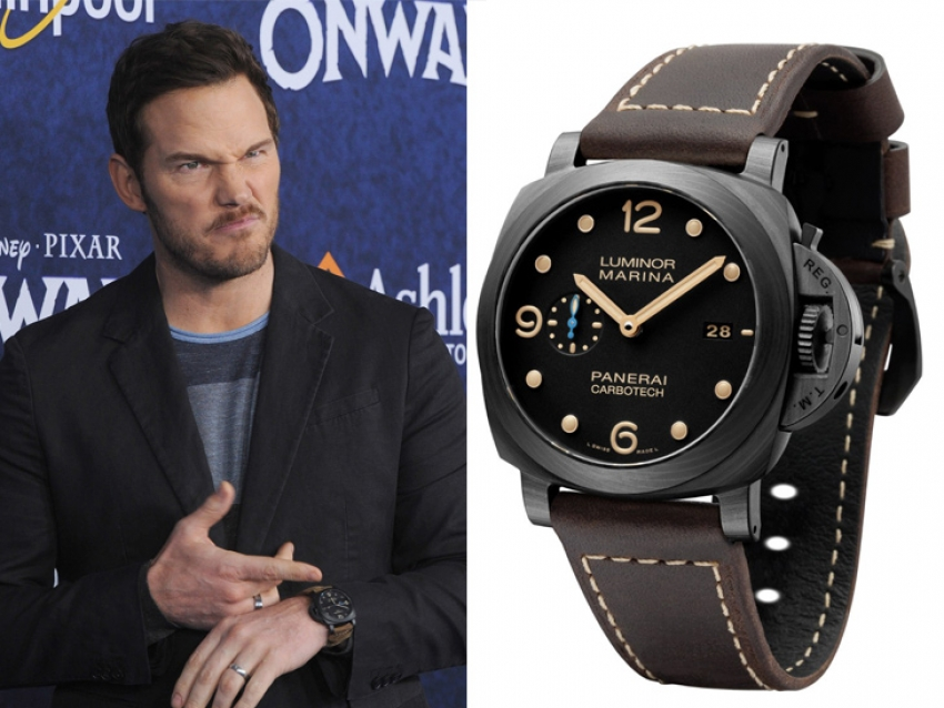 Chris Pratt deslumbra con un espectacular Panerai Luminor
